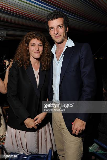 Ginevra Elkann and Giovanni Gaetani dell'Aquila d'Aragona attend the 'Sadie Coles And Angela Missoni Dinner For Gabriel Kuri And Urs Fischer' during...