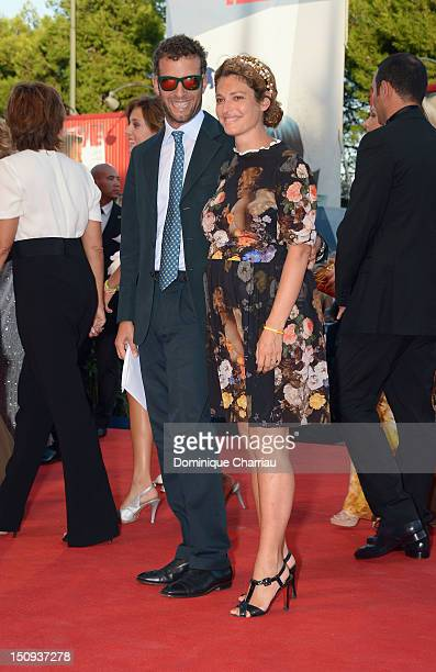 Ginevra Elkann and Giovanni Gaetani dell'Aquila d'Aragona attend The Reluctant Fundamentalist premiere and opening ceremony during the 69th Venice...