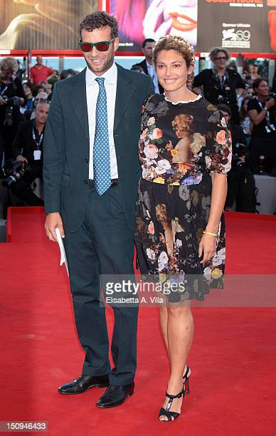 Ginevra Elkann and Giovanni Gaetani dell'Aquila d'Aragona attend The Reluctant Fundamentalist Premiere and Opening Ceremony of the 69th Venice...