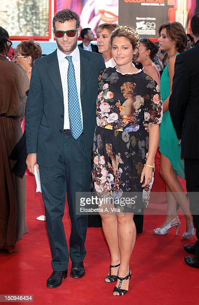 "Ginevra Elkann and Giovanni Gaetani dell'Aquila d'Aragona attend ""The Reluctant Fundamentalist"" Premiere and Opening Ceremony of the 69th Venice..."