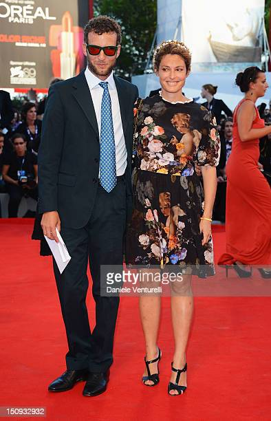 Ginevra Elkann and Giovanni Gaetani dell'Aquila d'Aragona attends The Reluctant Fundamentalist premiere and opening ceremony during the 69th Venice...