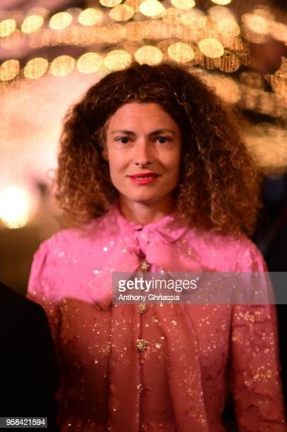Ginevra Elkann attend the Women in Motion Awards Dinner presented by Kering and the 71th Cannes Film Festival at the Place de la Castre on May 13...