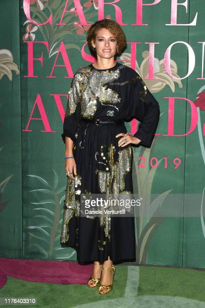 Ginevra Elkann attends the Green Carpet Fashion Awards during the Milan Fashion Week Spring/Summer 2020 on September 22 2019 in Milan Italy