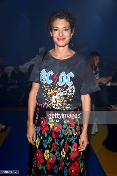 Ginevra Elkann attends the Gucci show during Milan Fashion Week Spring/Summer 2018 on September 20 2017 in Milan Italy