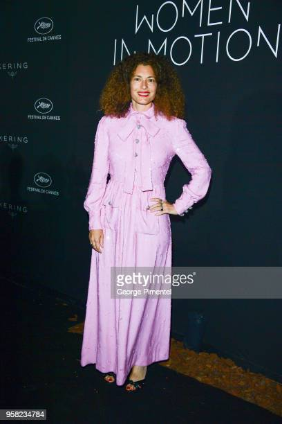 Ginevra Elkann attends the Kering Women In Motion dinner during the 71st annual Cannes Film Festival at Place de la Castre on May 13 2018 in Cannes...
