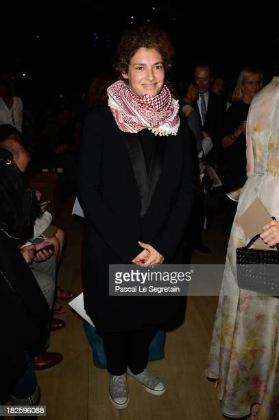 Ginevra Elkann attends the Valentino show as part of the Paris Fashion Week Womenswear Spring/Summer 2014 at Espace Ephemere Tuileries on October 1...