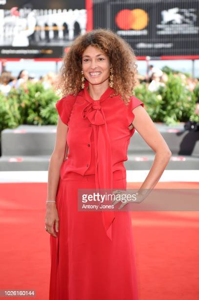 Ginevra Elkann walks the red carpet ahead of the 'My Brilliant Friend ' screening during the 75th Venice Film Festival at Sala Grande on September 2...