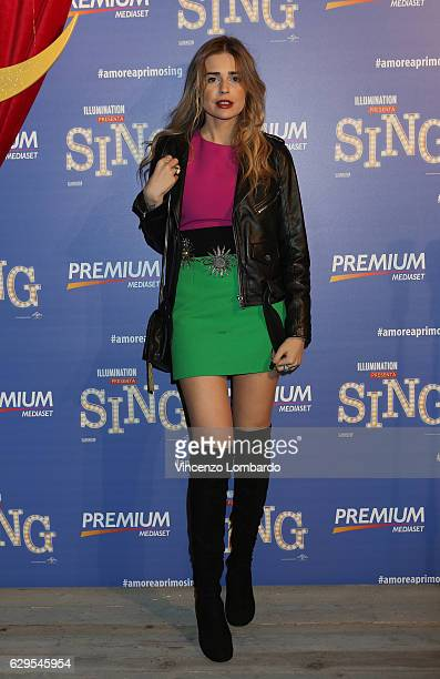 Ginevra Lambruschi attends a photocall for 'Sing' on December 13 2016 in Milan Italy