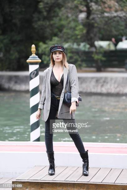 Ginevra Lambruschi is seen arriving at the 76th Venice Film Festival on September 06 2019 in Venice Italy