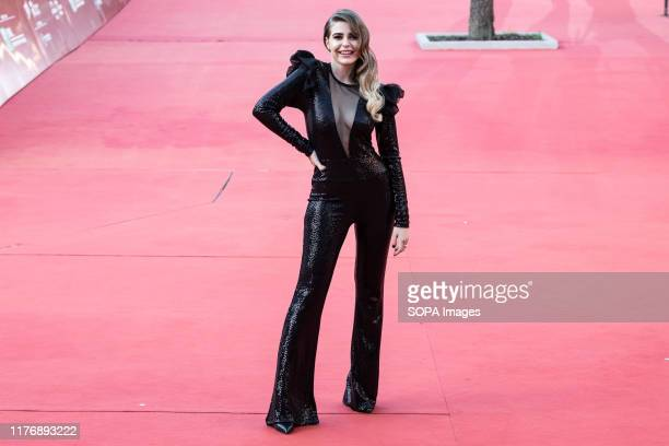 Ginevra Lambruschi on the red carpet during the 14th Rome Film Festival