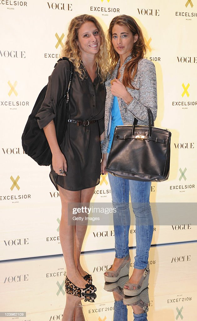 Ginevra Ligresti (on the right) attends the opening cocktail party of Excelsior Milano on September 6, 2011 in Milan, Italy.