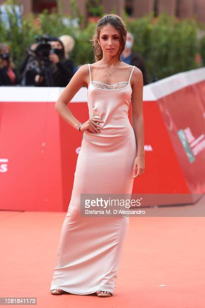 Ginevra Nuti attends the red carpet of the movie Borat during the 15th Rome Film Festival on October 23 2020 in Rome Italy
