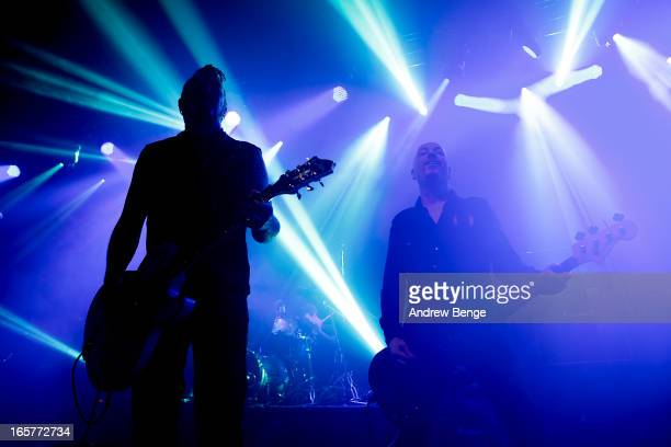 Ginger and Jon Poole of The Wildhearts perform on stage at Manchester Academy on April 5 2013 in Manchester England