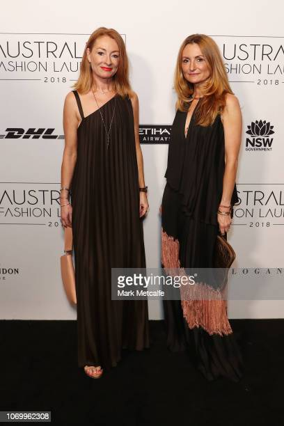 Ginger and Smart designers Alexandra and Genevieve Smart attend the 2018 Australian Fashion Laureate Awards on November 20 2018 in Sydney Australia