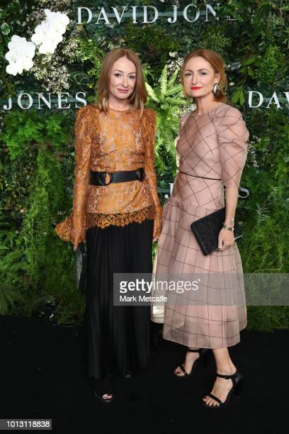 Ginger and Smart designers Alexandra and Genevieve Smart attends the David Jones Spring Summer 18 Collections Launch at Fox Studios on August 8 2018...