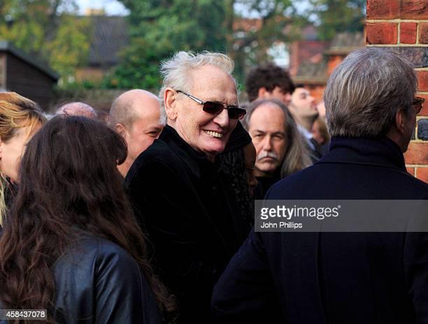 Ginger Baker attends the funeral of Jack Bruce at Golders Green Crematorium on November 5 2014 in London England