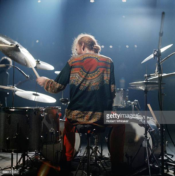 Ginger Baker is pictured performing at Cream's farewell concert at the Royal Albert Hall November 1968