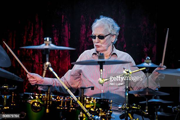 Ginger Baker performs on stage with his band Airforce 3 at The Borderline on January 26, 2016 in London, England.