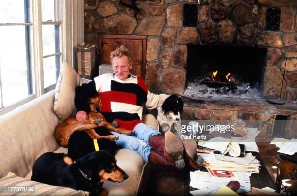 Ginger Baker, Rock Drummer Legend And Founding Member Of Cream On His California Ranch. January 1, 1990 Saugus, Antelope Valley, California