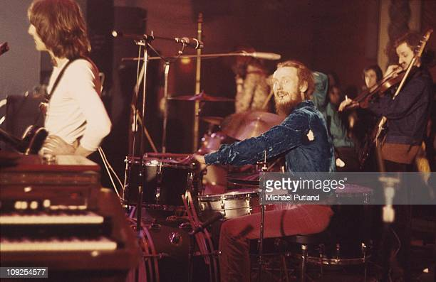 Ginger Baker's Airforce perform on stage in London, 1969.