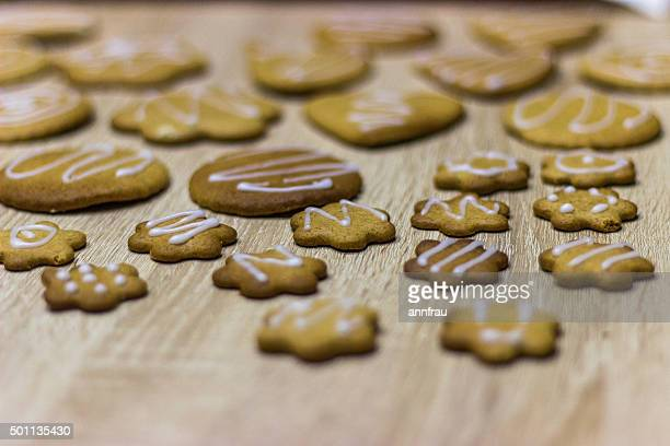 ginger cookies - annfrau stock photos and pictures