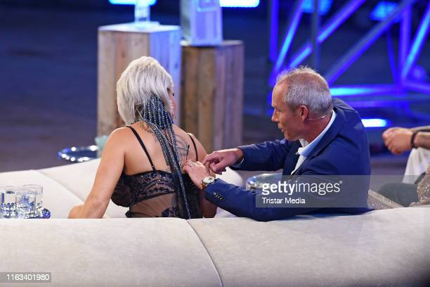 Ginger CostelloWollersheim and Juergen Trovato during the Promi Big Brother final at MMC Studios on August 23 2019 in Cologne Germany