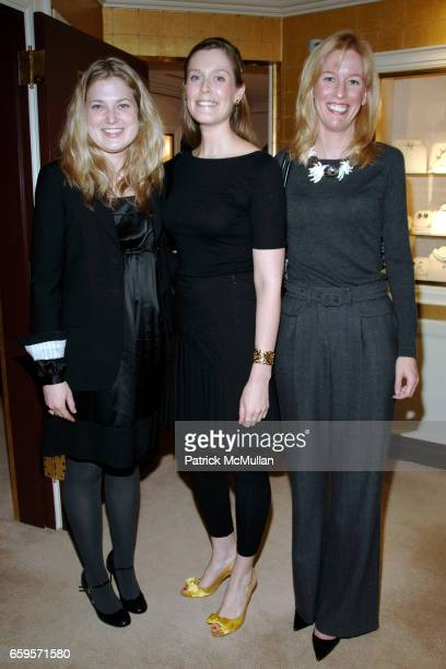 Ginger Fisher Phoebe Booth and Alix Goelet attend Verdura's 70th Anniversary at the Verdura Salon on October 27 2009 in New York City