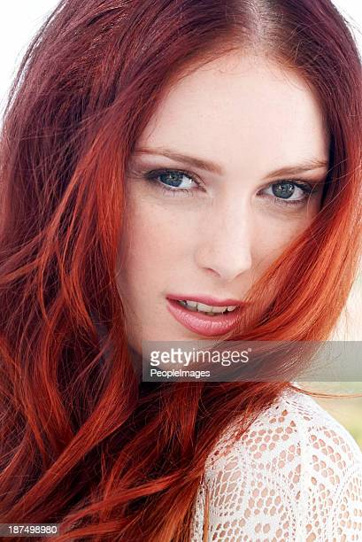 ginger goddess! - dyed red hair stock pictures, royalty-free photos & images