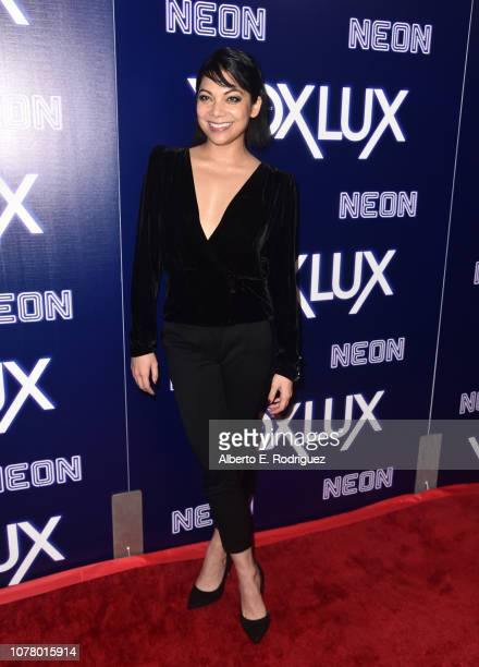 Ginger Gonzaga attends premiere of Neon's 'Vox Lux' at ArcLight Hollywood on December 05 2018 in Hollywood California