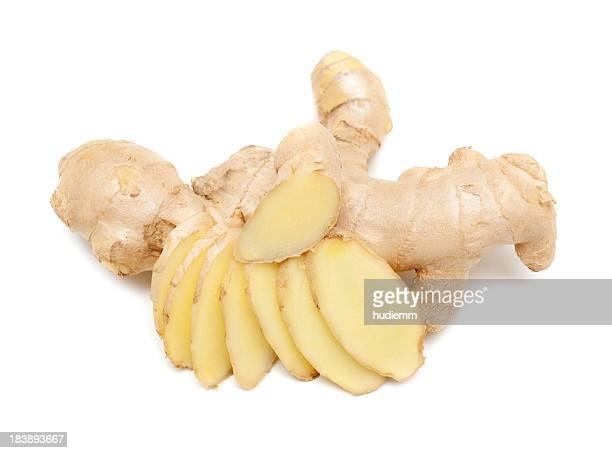 Ginger fondo blanco aislado