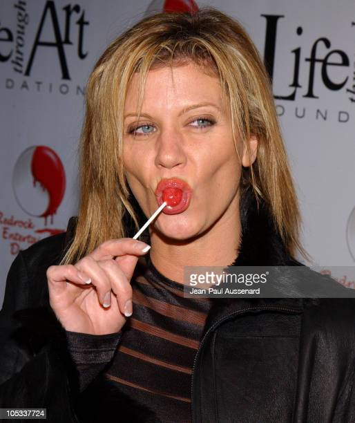 "Ginger Lynn during The First Annual ""Red Party"" To Benefit The Life Through Art Foundation at Private residence in Holmby Hills, California, United..."