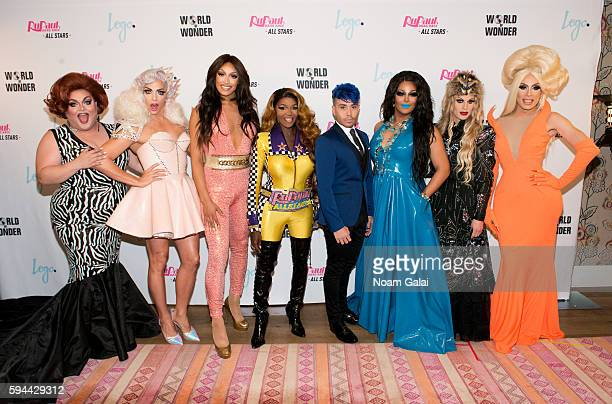 Ginger Minj Alyssa Edwards Tatianna Coco Montrese Phi Phi O'Hara Roxxxy Andrews Katya and Alaska attend the 'RuPaul's Drag Race All Stars' season two...