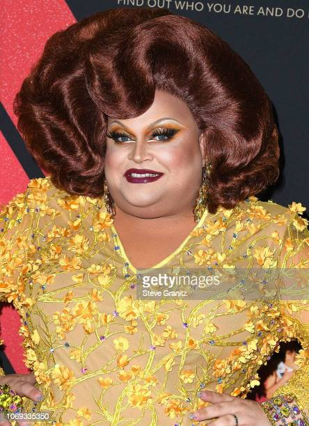 Ginger Minj arrives at the Premiere Of Netflix's Dumplin' at TCL Chinese 6 Theatres on December 6 2018 in Hollywood California