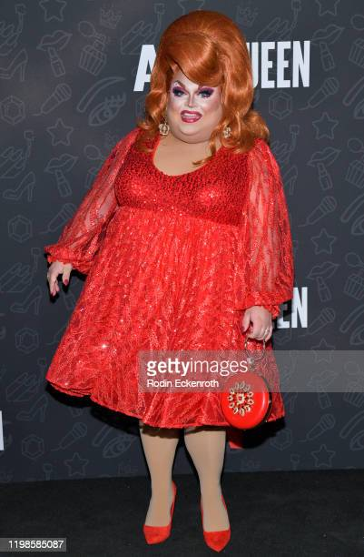 Ginger Minj attends Premiere of Netflix's AJ and the Queen Season 1 at the Egyptian Theatre on January 09 2020 in Hollywood California