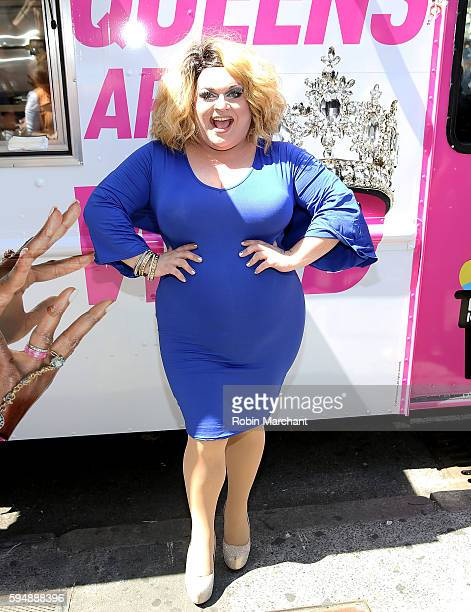 Ginger Minj attends RuPauls' Drag Race All Stars Celebrate Season 2 With Big Gay Ice Cream at Union Square on August 24 2016 in New York City