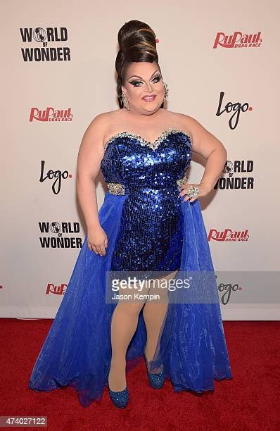 Ginger Minj attends RuPaul's Drag Race Reunion/Finale Courtesy Logo / WOW at Orpheum Theatre on May 19 2015 in Los Angeles California