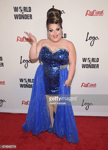 Ginger Minj attends RuPaul's Drag Race Season 7 Finale Courtesy Logo / WOW at the Orpheum Theatre on May 19 2015 in Los Angeles California