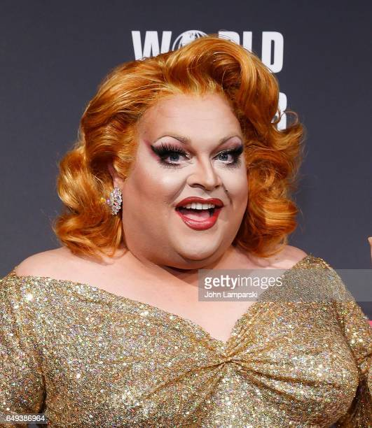 Ginger Minj attends RuPaul's Drag Race season 9 premiere party meet The Queens Event at PlayStation Theater on March 7 2017 in New York City