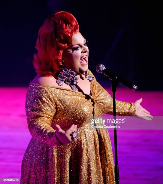 Ginger Minj performs at 4th annual RuPaul's DragCon at Los Angeles Convention Center on May 12 2018 in Los Angeles California