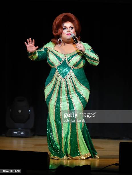 Ginger Minj performs during 2018 DragCon World Of Queens Party at The Town Hall on September 28 2018 in New York City