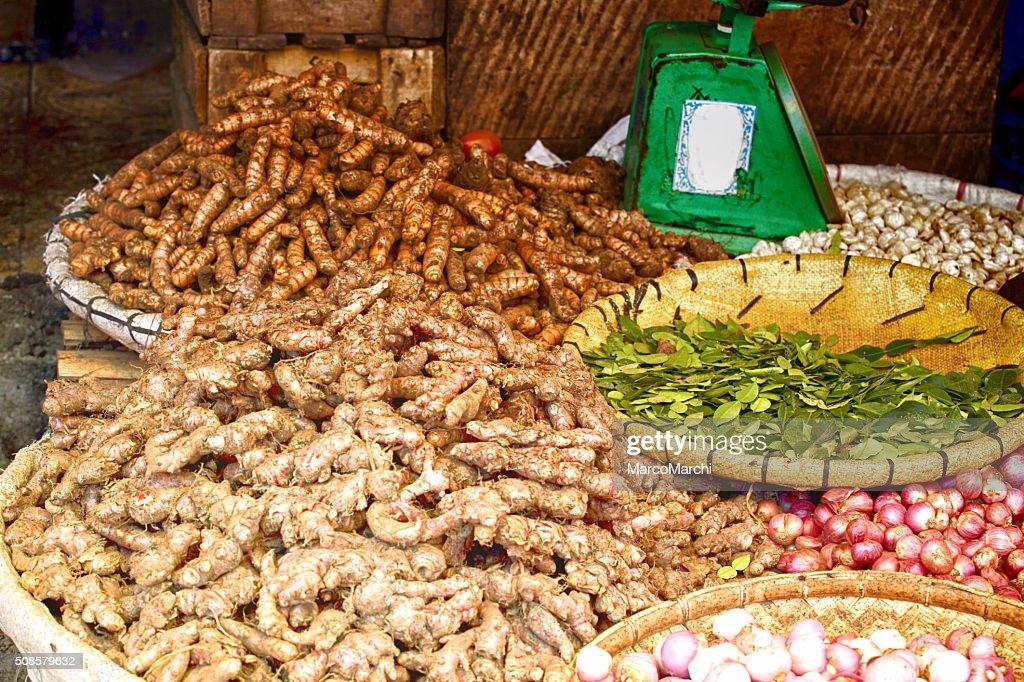Ingwer auf Markt : Stock-Foto
