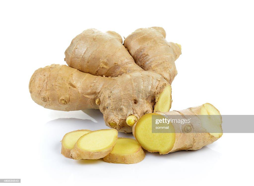 ginger on white background : Bildbanksbilder