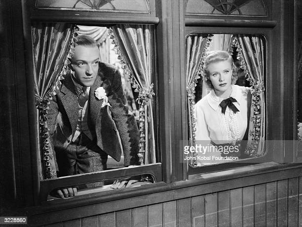 Ginger Rogers and Fred Astaire play a pair of legendary ballroom dancers in 'The Story of Vernon and Irene Castle' directed by H C Potter