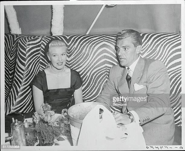 Ginger Rogers and Greg Bautzer at El Morocco