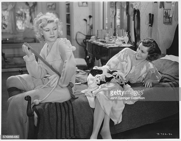 Ginger Rogers as Cecelia Ferris and Frances Dee as Virginia Radcliff in the 1934 romantic drama Finishing School