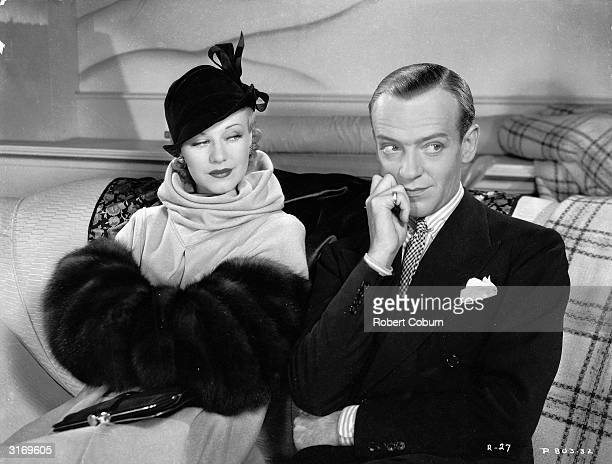 Ginger Rogers as Scharwenka aka Lizzie Gatz and Fred Astaire as Huckleberry Haines in the RKO film' Roberta' Director William A Seiter Costumes by...