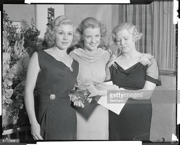 Ginger Rogers Betty Furness and Lela Rogers mother of Ginger as they attended the opening of the Hollytown Theater a new little theater in Hollywood...