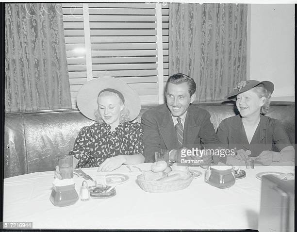 Ginger Rogers Earl Eby actorproducer and Ginger's mother at the Brown Derby