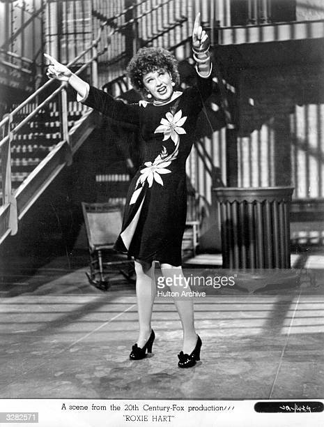 Ginger Rogers in a scene from 'Roxie Hart' in which a showgirl confesses to a murder to gain publicity. The film was directed by William A Wellman...