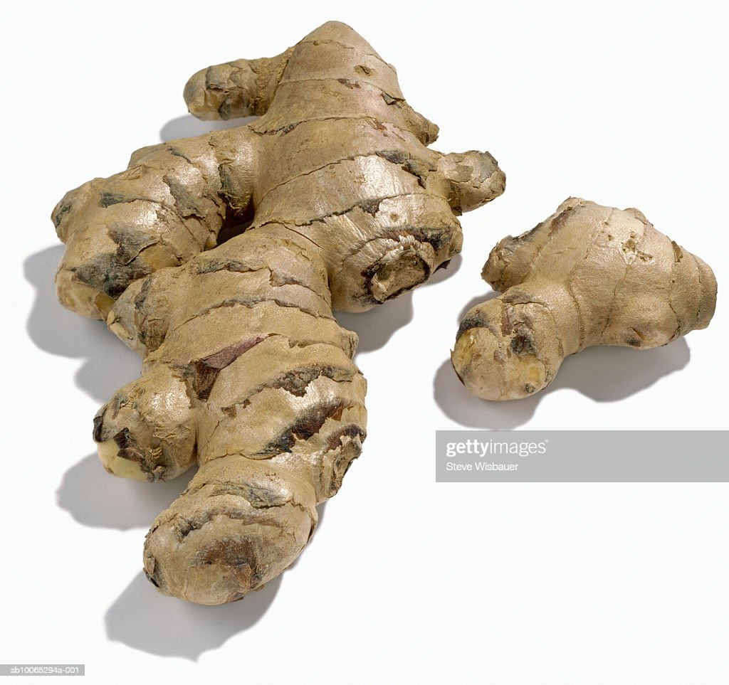 Ginger root, studio shot, close-up : Stock Photo
